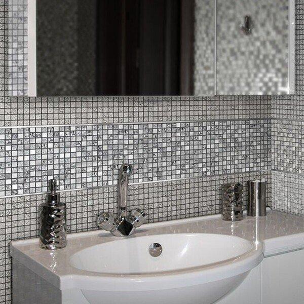 Мозаика QM-1542 в интерьере ванной комнаты