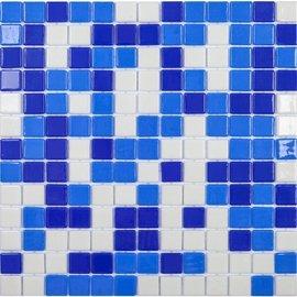 мозаика Mix Aguamarina стеклянная для бассейна