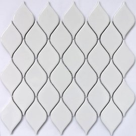 мозаика Melany White glossy