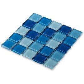 мозаика Navy blu стеклянная для бассейна