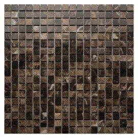 мозаика Emperador Dark POL 15x15х10 мм.