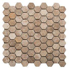 мозаика Hexagon Emperador Light tum.