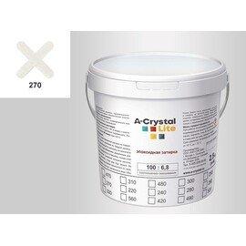 Эпоксидная затирка для швов А-кристал Лайт 270 2.5 КГ