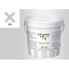 Эпоксидная затирка для швов А-кристал Лайт 320 2.5 КГ