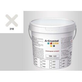 Эпоксидная затирка для швов А-кристал Лайт 310 2.5 КГ