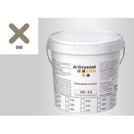 Эпоксидная затирка для швов А-кристал Лайт 560 2.5 КГ