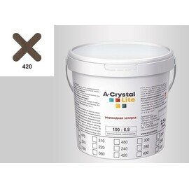 Эпоксидная затирка для швов А-кристал Лайт 420 2.5 КГ