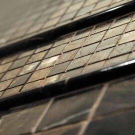мозаичный бордюр B022-2 (Emperador Dark)