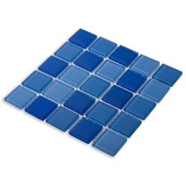 мозаика Blue wave-1 стеклянная для бассейна