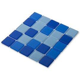 мозаика Blue wave-2 стеклянная для бассейна