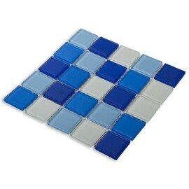 мозаика Blue wave-3 стеклянная для бассейна