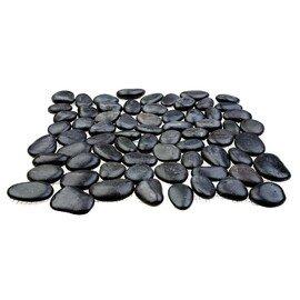 мозаика MS00-3HP ГАЛЬКА чёрная шлифованная