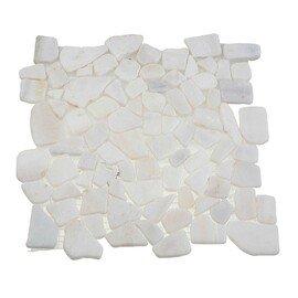 мозаика MS0536 IL МРАМОР белый треугольный