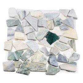 мозаика  MS7004 IL МРАМОР серо-зелёный