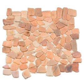 мозаика MS7015S МРАМОР розовый квадратный