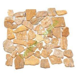 мозаика MS7025 МРАМОР КРУПНЫЙ песочный квадратный