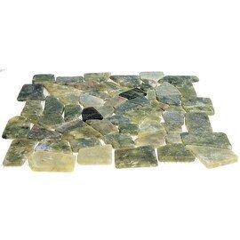 мозаика MS7042 МРАМОР тёмно-зелёный квадратный