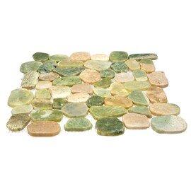 мозаика MS9002 BC МРАМОР бело-зелёный круглый