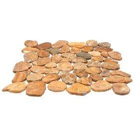 мозаика MS9005 BC МРАМОР песочный круглый