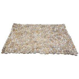 мозаичный ковер Коврик MS00-1S ГАЛЬКА слоновая кость