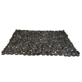 мозаичный ковер Коврик MS00-3P ГАЛЬКА чёрная