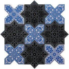 напольная плитка-мозаика PNT (BLACK-BLUE)