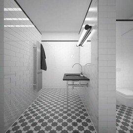 напольная плитка-мозаика PNT (BLACK-WHITE)