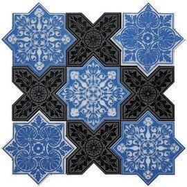 напольная плитка-мозаика PNT (BLUE-BLACK)