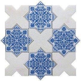 напольная плитка-мозаика PNT (BLUE-WHITE)