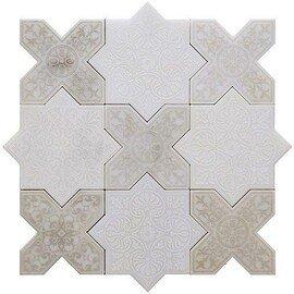 напольная плитка-мозаика PNT (WHITE-ANTICO)