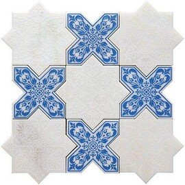 напольная плитка-мозаика PNT (WHITE-BLUE)