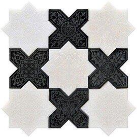 напольная плитка-мозаика PNT (WHITE-BLACK)